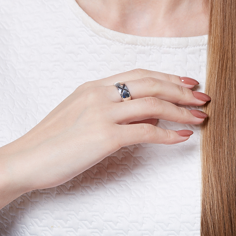 Кольцо бриллиант Россия огранка (серебро 925 пр.) размер 19