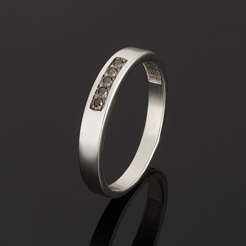 Кольцо бриллиант Россия огранка (серебро 925 пр. родир. бел.) (обручальное),  размер 18,5