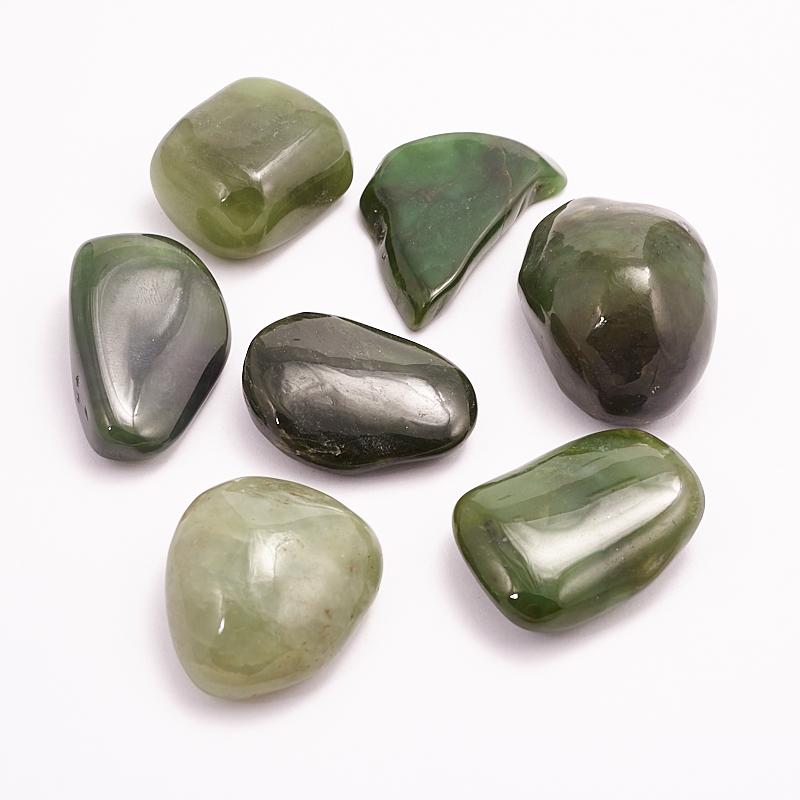 Галтовка Нефрит зеленый (1-1,5 см) 1 шт