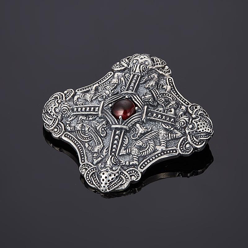 цена на Кулон гранат альмандин (серебро 925 пр. оксидир.)