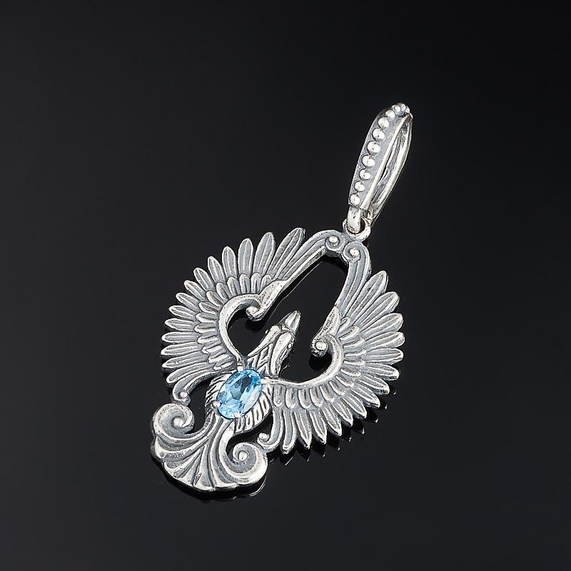 Кулон топаз голубой огранка (серебро 925 пр.) украшение для волос топаз голубой огранка заколка серебро 925 пр
