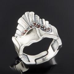 Кольцо гранат альмандин Индия огранка (серебро 925 пр.) (регулируемый) размер