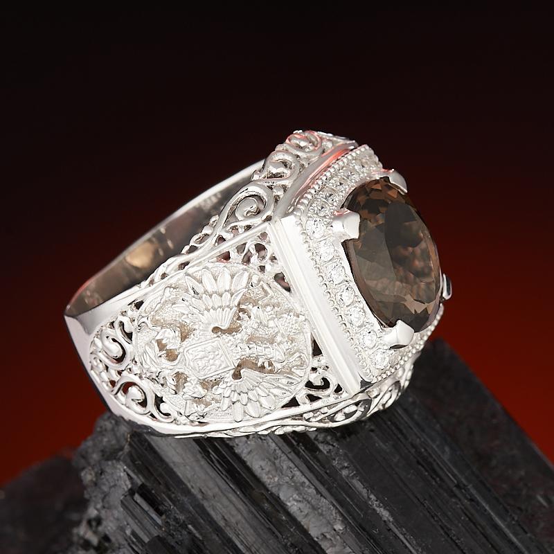 Кольцо раухтопаз Бразилия огранка (серебро 925 пр.) размер 21,5