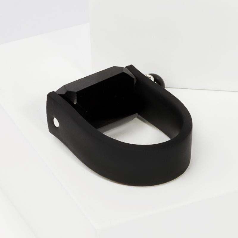 Кольцо гагат Грузия (каучук) размер 18