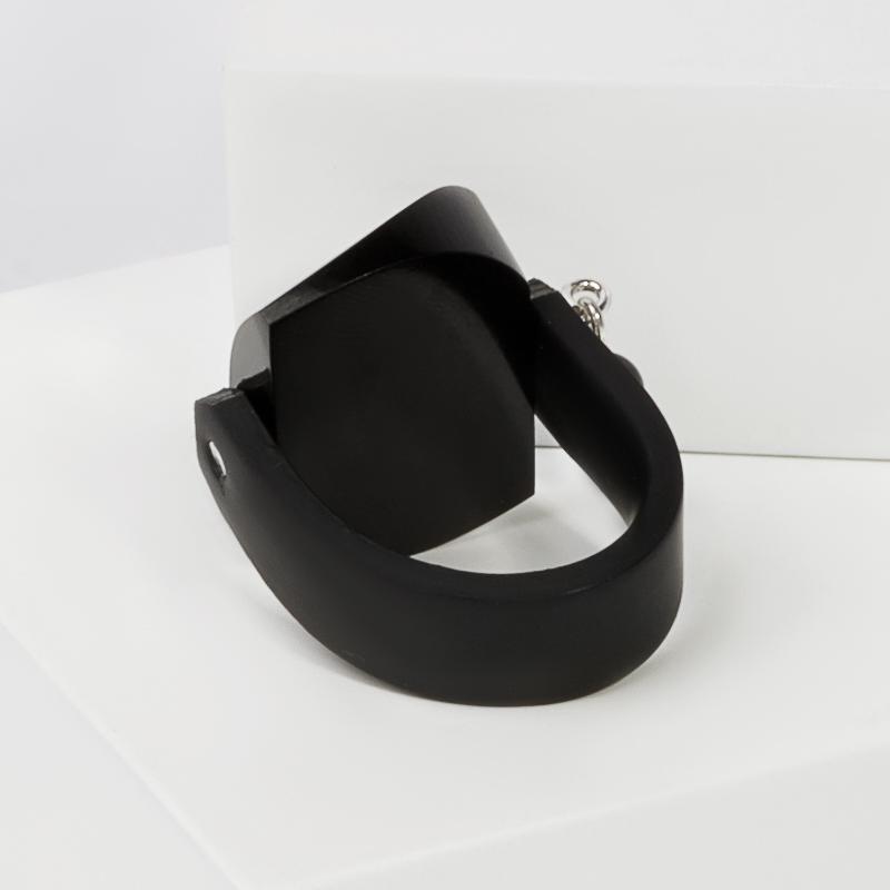 Кольцо гагат Грузия (каучук) размер 17