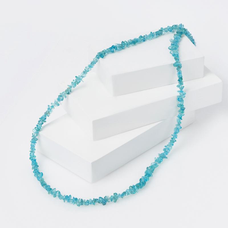 Бусы апатит синий длинные 94 см (биж. сплав) бусы апатит голубой 45 см