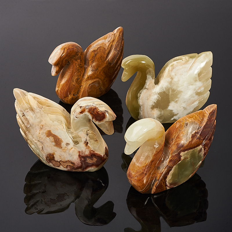 Лебедь оникс мраморный 10,5 см груша оникс мраморный 9 см