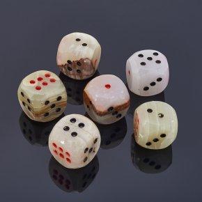 Кости игральные оникс мраморный Пакистан 2,5-3 см