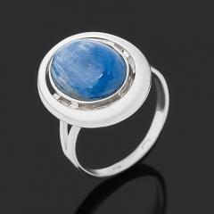 Кольцо кианит синий Бразилия  (серебро 925 пр. родир. бел.) размер 18,5