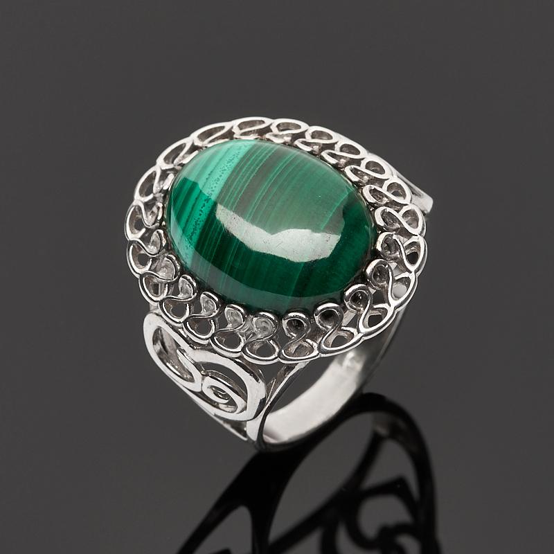 Кольцо малахит (серебро 925 пр.) размер 17