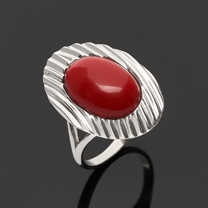Фото - Кольцо коралл красный (серебро 925 пр.) размер 17,5 кольцо коралл красный серебро 925 пр позолота размер 20