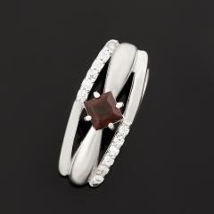 Кулон гранат альмандин Индия огранка (серебро 925 пр. родир. бел.)