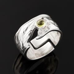 Кольцо хризолит США (серебро 925 пр.) (регулируемый) размер 16,5