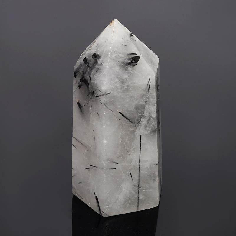 Кристалл кварц с турмалином S (ограненный) цены онлайн