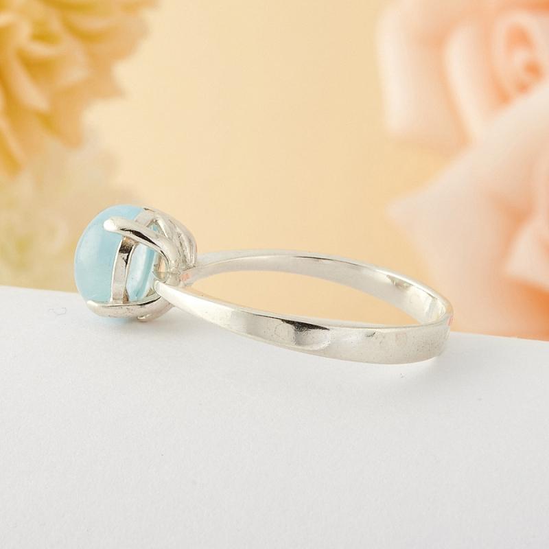 [del] Кольцо аквамарин Россия (серебро)  размер 18,5