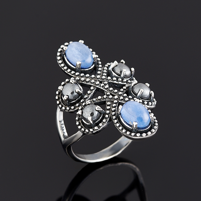 Кольцо кианит синий (серебро 925 пр.) размер 17