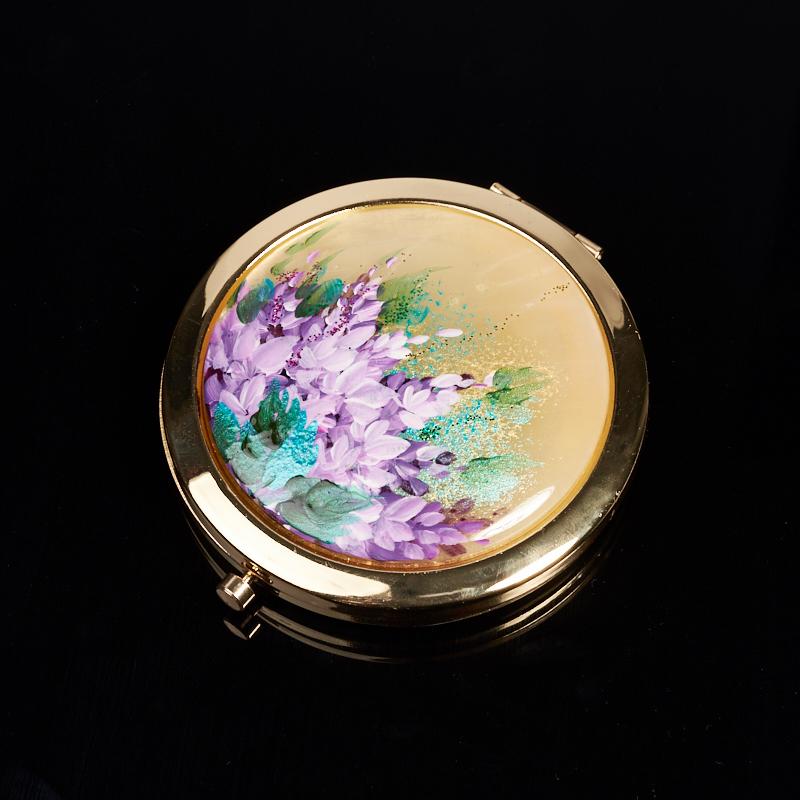 Зеркало селенит (латунь) 7 см
