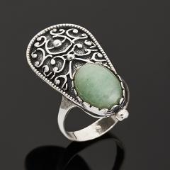 Кольцо авантюрин зеленый Индия (серебро 925 пр.) размер 18