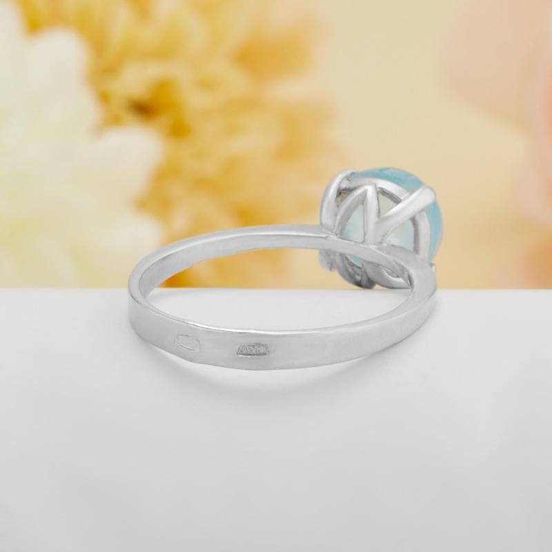 [del] Кольцо аквамарин Россия (серебро)  размер 21