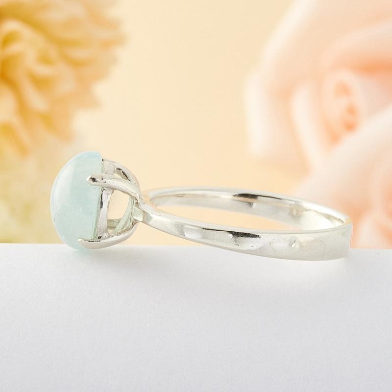 [del] Кольцо аквамарин Россия (серебро)  размер 20,5