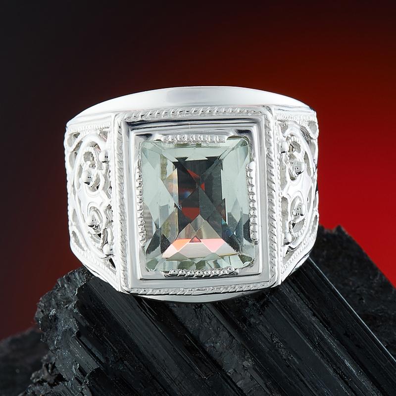Кольцо празиолит огранка (серебро 925 пр.) размер 22 цена