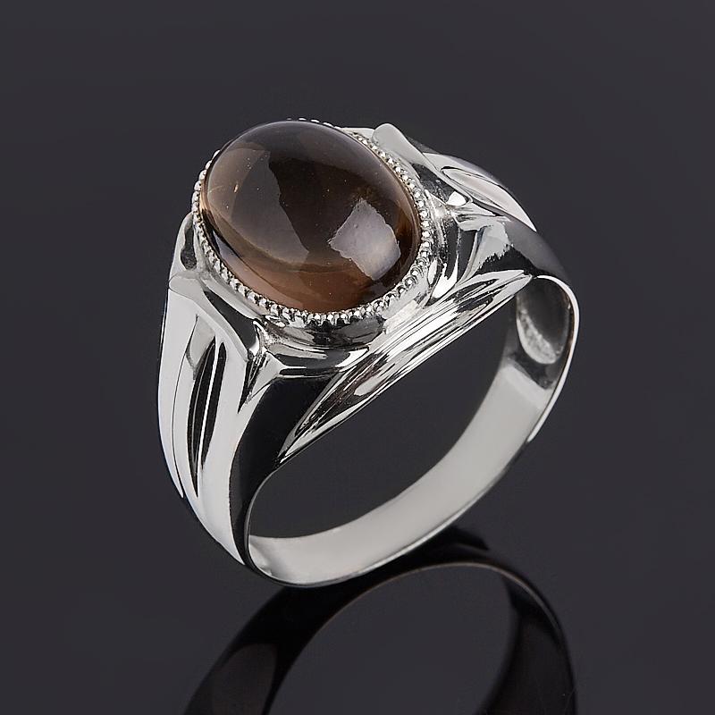 Кольцо раухтопаз (серебро 925 пр.) размер 21