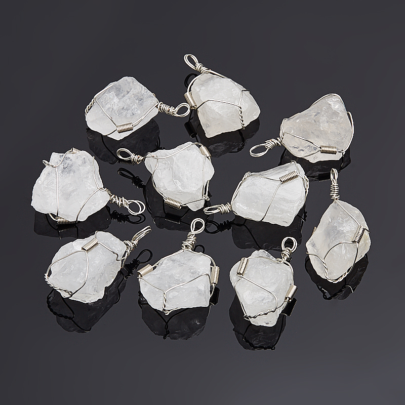 Кулон горный хрусталь кристалл (биж. сплав) 4-4,5 см