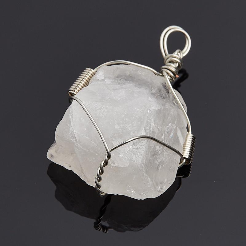 Кулон горный хрусталь Бразилия кристалл (биж. сплав) 4-4,5 см