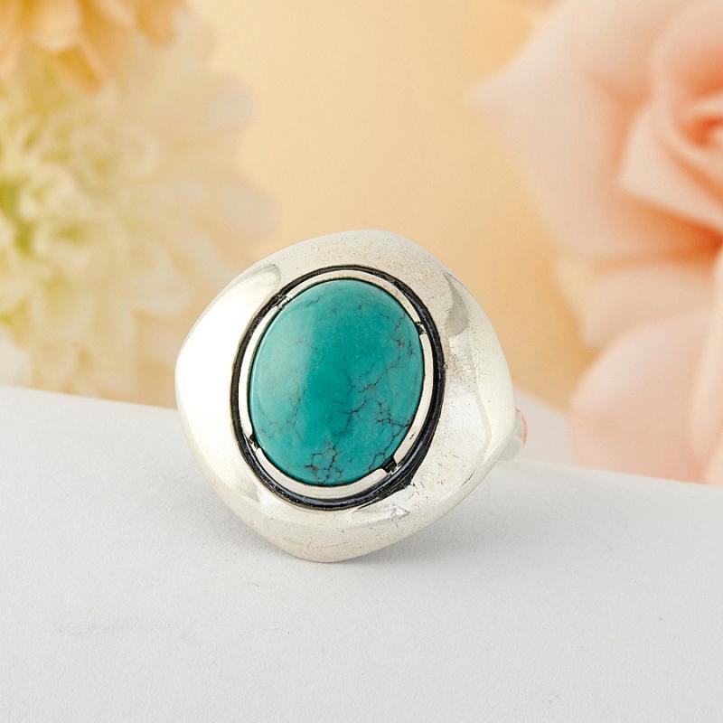 [del] Кольцо бирюза Тибет (серебро)  размер 19