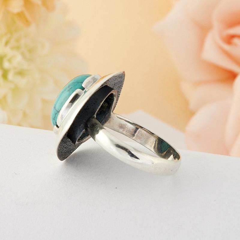 [del] Кольцо бирюза Тибет (серебро)  размер 21