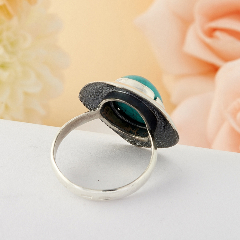 [del] Кольцо бирюза Тибет (серебро)  размер 22
