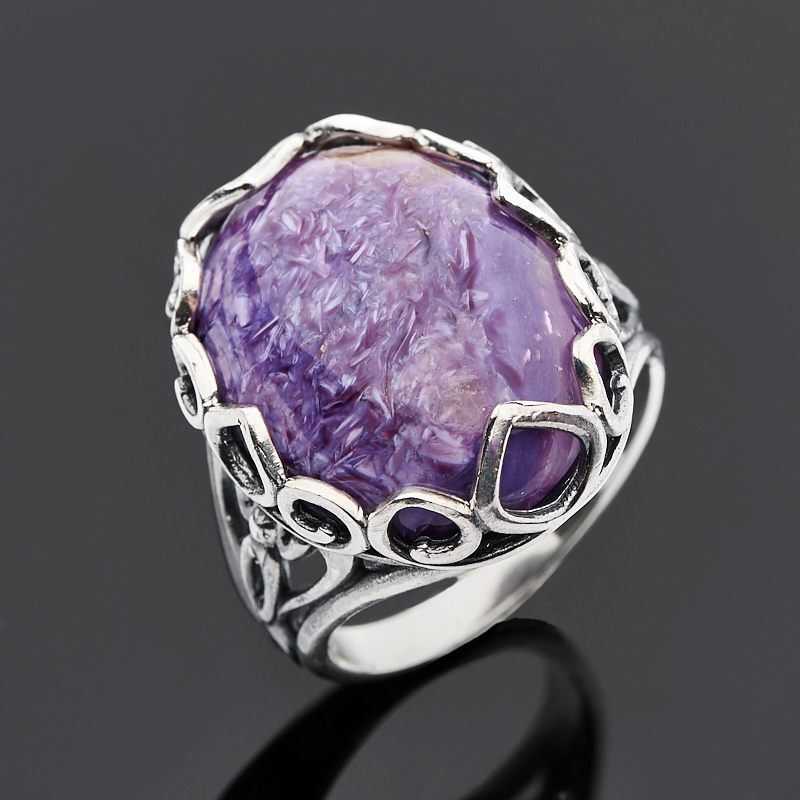Кольцо чароит (серебро 925 пр.) размер 17,5 кольцо other 925 925 r001