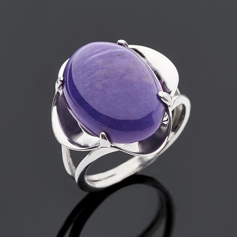 Кольцо чароит (серебро 925 пр.) размер 17,5