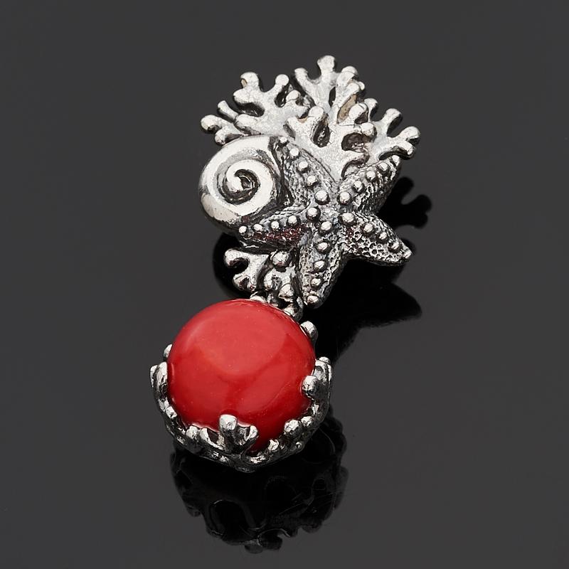 Кулон коралл красный (серебро 925 пр.) кулон дженифер прес коралл коралл хрусталь