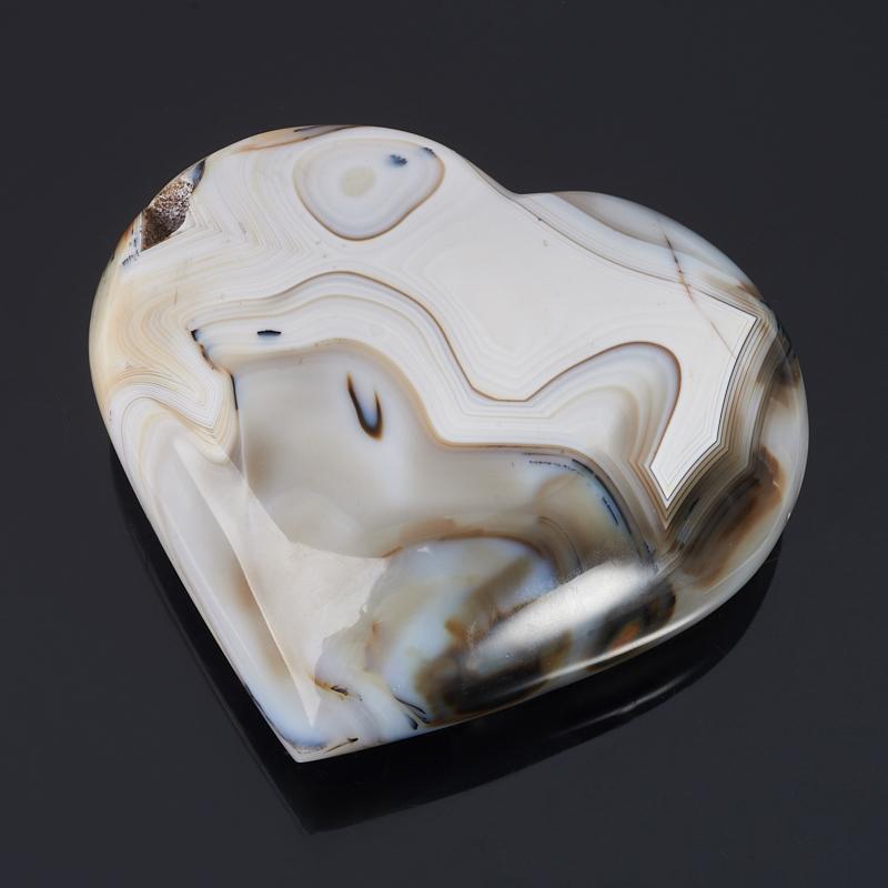 Сердечко агат серый 12 см цена
