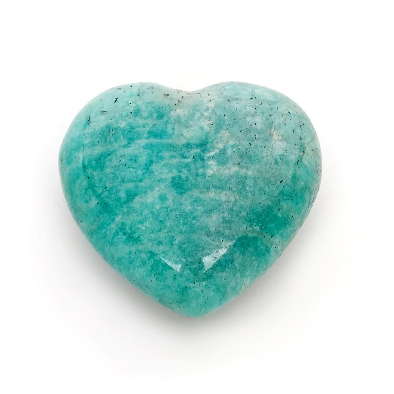 Сердечко амазонит 3 см подвеска амазонит натуральная кожа