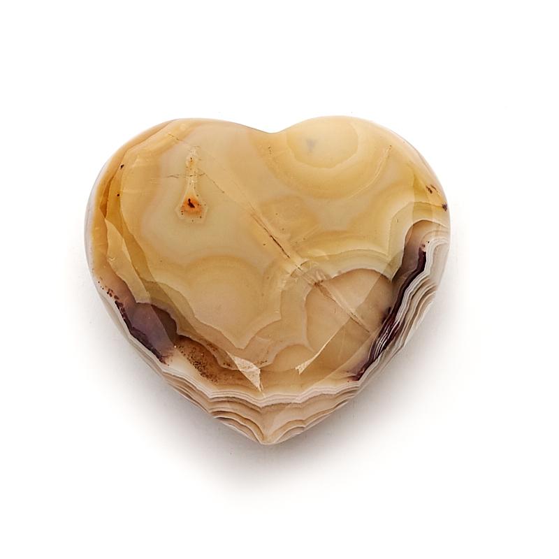 Сердечко агат серый (3 см) 1 шт сердечко кальцит желтый 3 3 5 см
