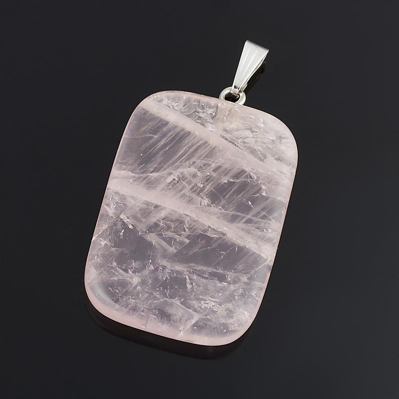 Кулон розовый кварц прямоугольник (биж. сплав) 4,5 см кулон розовый кварц прямоугольник 5 см
