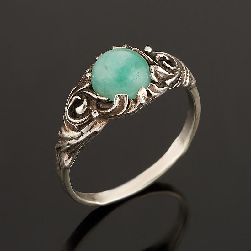 Кольцо берилл (серебро 925 пр.) размер 18,5