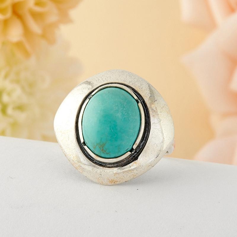 Кольцо бирюза Тибет (серебро)  размер 18,5