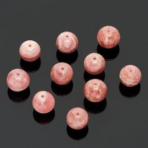 Бусина родохрозит Аргентина шарик 9 мм (1 шт)