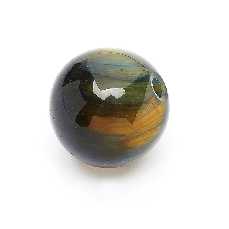 Бусина тигрово-соколиный глаз ЮАР шарик 8 мм (1 шт)