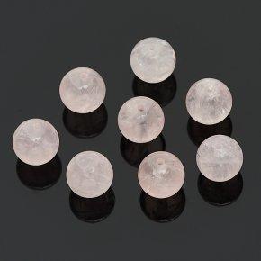 Бусина розовый кварц Бразилия шарик 10 мм (1 шт)