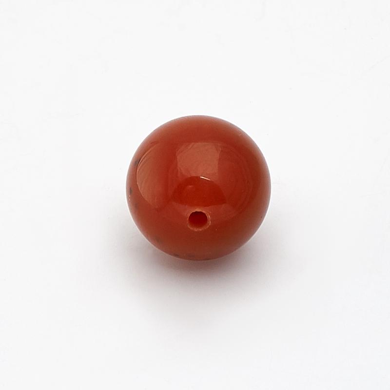Бусина сердолик шарик 10-10,5 мм (1 шт)