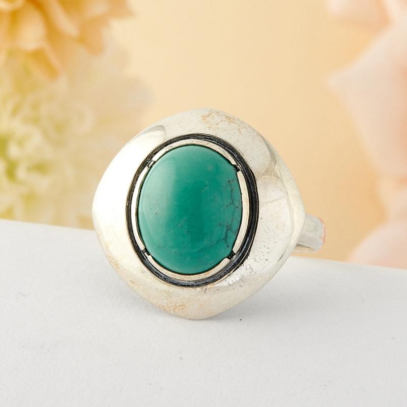 Кольцо бирюза Тибет (серебро)  размер 19,5
