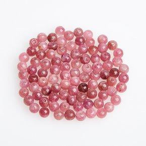 Бусина турмалин розовый (рубеллит) Бразилия шарик 3,5 мм (1 шт)