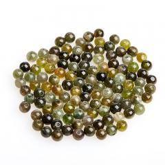 Бусина турмалин зеленый (верделит) Бразилия шарик 3,5 мм (1 шт)