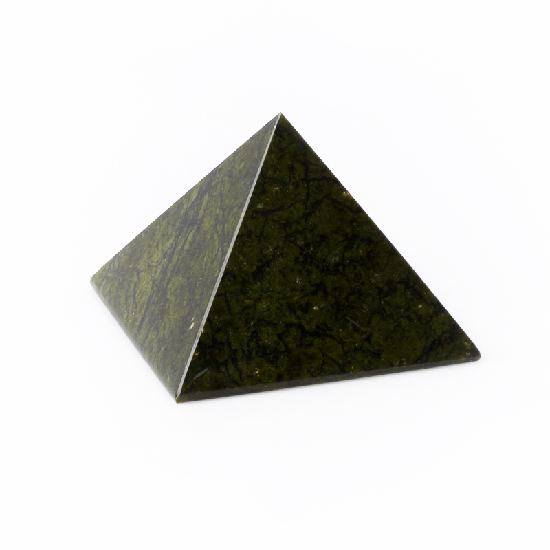 Пирамида змеевик 8 см