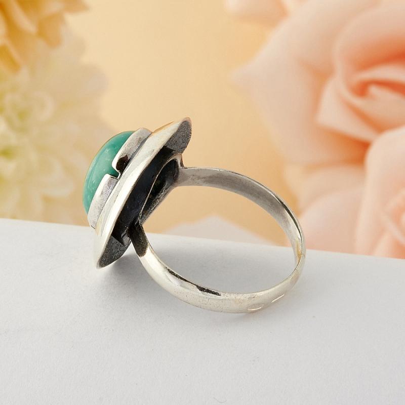 Кольцо бирюза Тибет (серебро)  размер 17