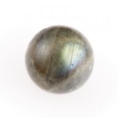 Бусина лабрадор Мадагаскар шарик 12-12,5 мм (1 шт)
